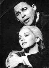 Cathryn Pope as Melisande with Willard White as Golaud at the ENO
